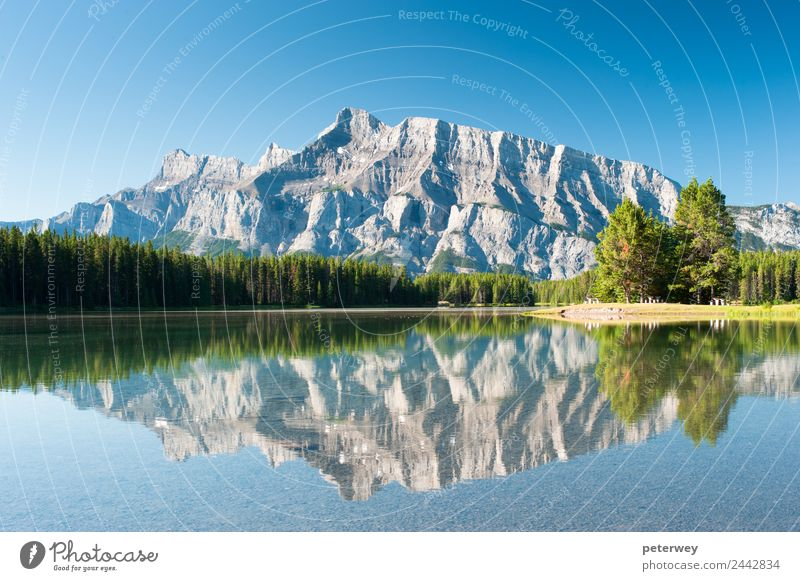 Mount Rundle from Cascade Ponds, Canada Trip Mountain Hiking Nature Lake Blue Alpine Banff National Park beautiful forest grass green landscape panorama