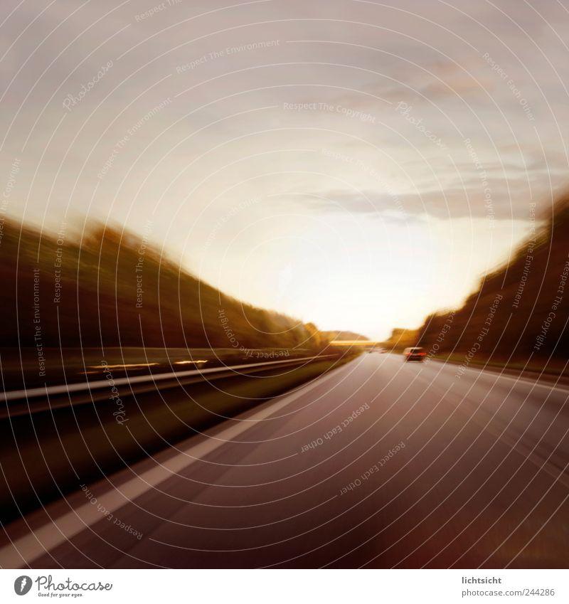 Sky Street Movement Line Horizon Transport Speed Stripe Driving Target Highway Traffic infrastructure Risk Alcohol-fueled Motoring Left