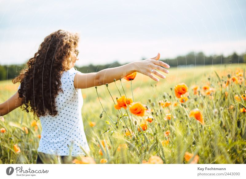 Human being Nature Vacation & Travel Youth (Young adults) Young woman Summer Plant Landscape Flower Joy 18 - 30 years Adults Warmth Life Healthy Feminine
