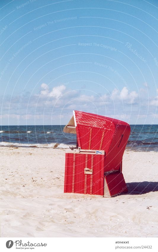 Sky Ocean Summer Vacation & Travel Relaxation Europe Baltic Sea Beach chair Sandy beach