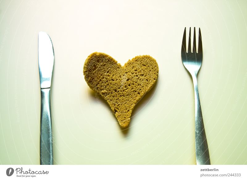 Love Emotions Nutrition Heart Food Sign Bread Knives Lovesickness Cutlery Desire Fork Disappointment Humble