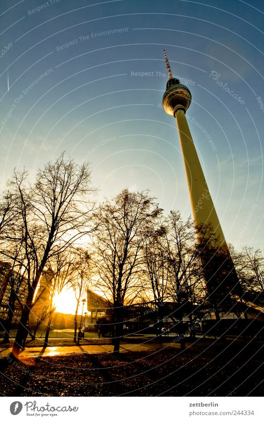 television tower Town Capital city Downtown Tower Manmade structures Building Architecture Tourist Attraction Landmark Emotions Berlin December Berlin TV Tower