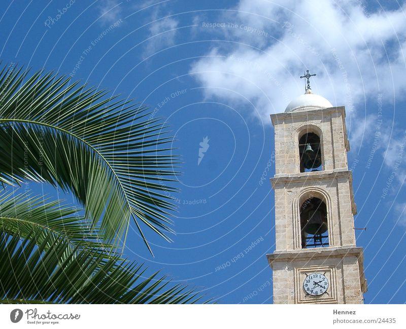 2:20 p.m. Chania Crete Clouds Palm tree Blue Sky