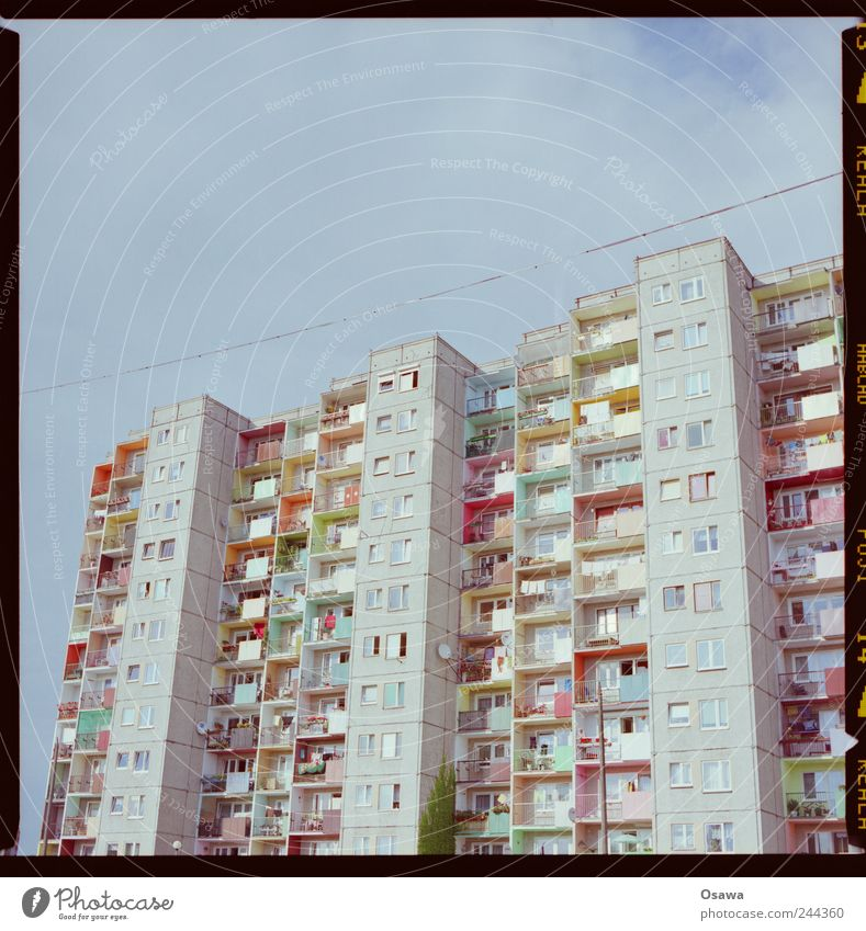 Window Building Architecture Flat (apartment) Concrete High-rise Facade Balcony Prefab construction Poland
