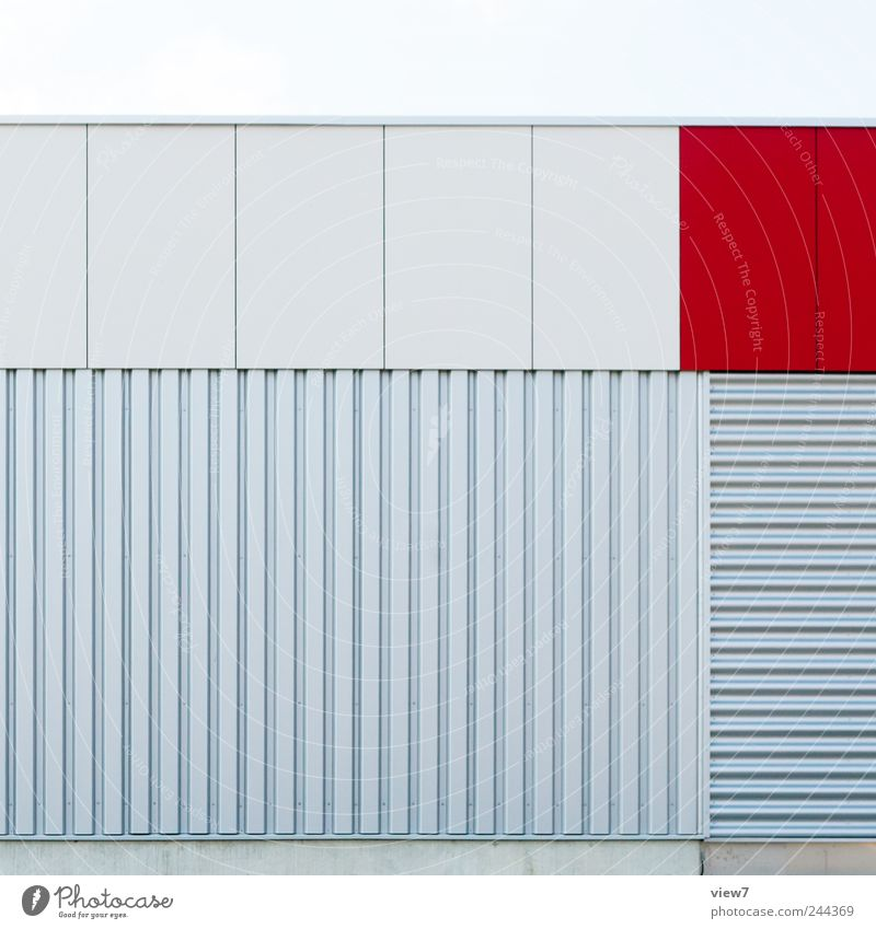 Beautiful Red House (Residential Structure) Above Stone Line Metal Architecture Design Concrete Beginning Facade Fresh Arrangement Esthetic