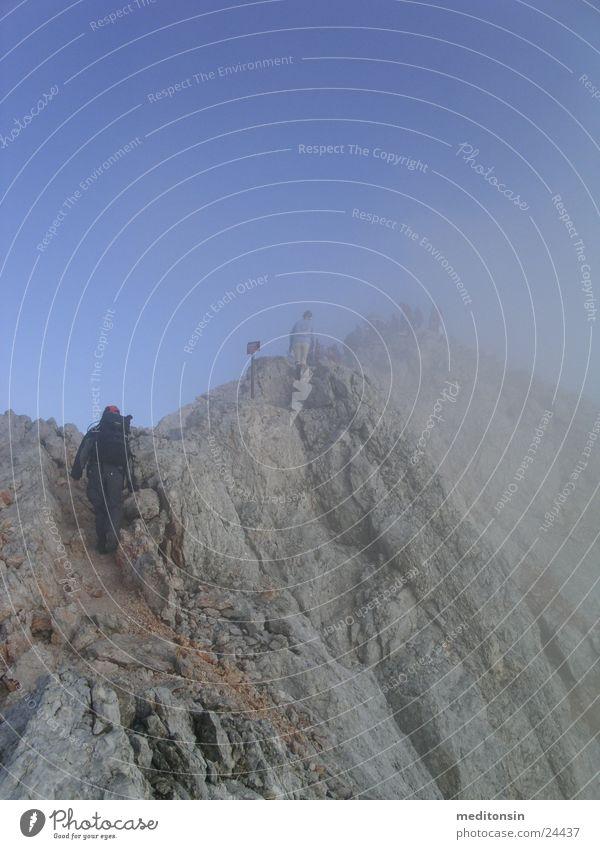 Sports Mountain Hiking Fog Transport Alps Peak Mountain ridge