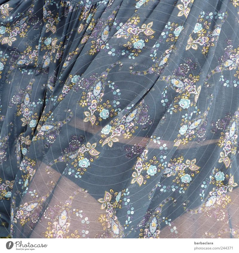 Woman Human being Blue Beautiful Summer Adults Relaxation Feminine Life Freedom Lie Esthetic Romance Dress Warm-heartedness