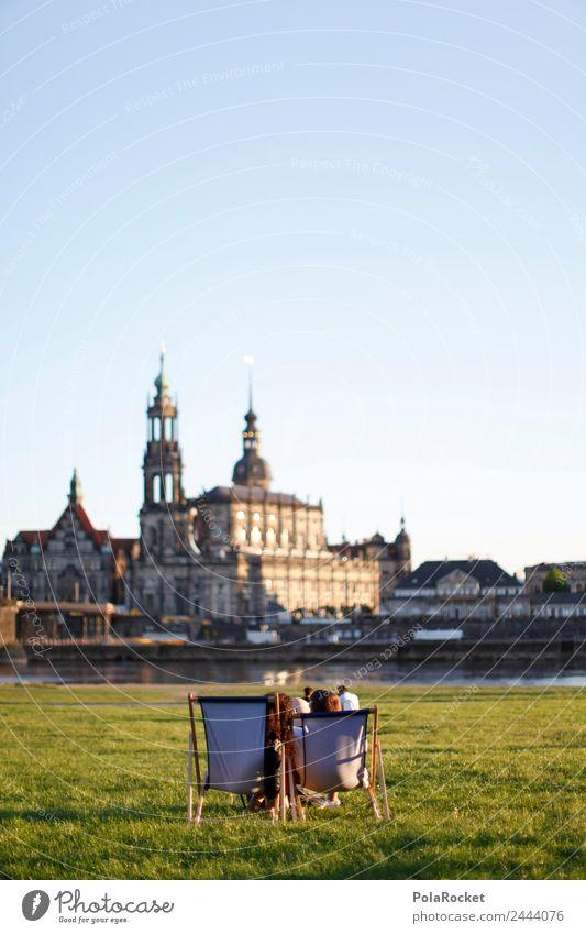 #A# Enjoy Dresden Art Work of art Esthetic Saxony Germany Tourist Attraction Tourism Wanderlust City trip Elbufer Dresden Hofkirche Relaxation Silhouette