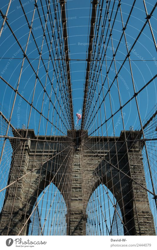 Brooklyn Bridge II Lifestyle Luxury Elegant Style Design Vacation & Travel Tourism Trip Human being Art Work of art Architecture Populated Overpopulated