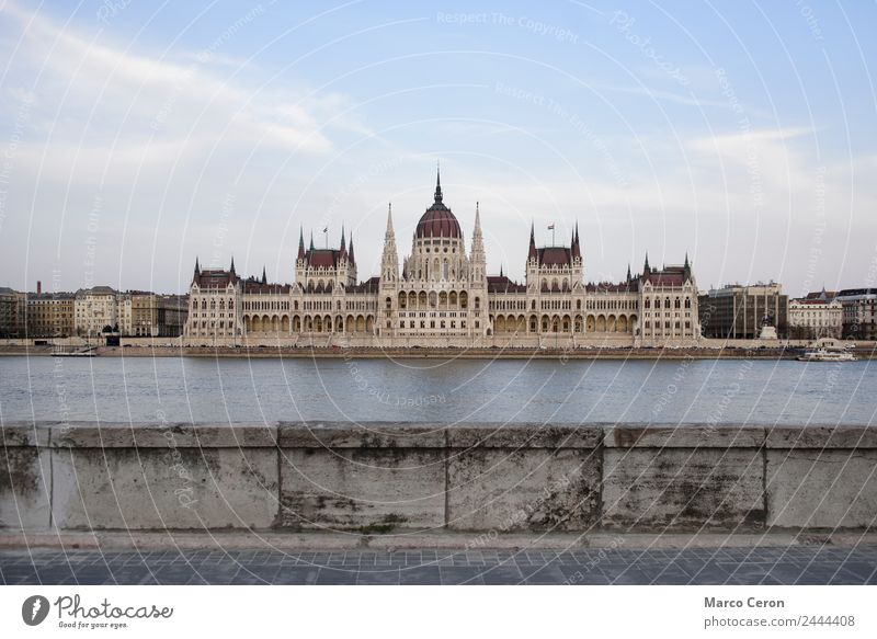 Hungarian Parliament house and Danube architecture background blue budapest building city cityscape danube day europe famous gothic government hungarian hungary