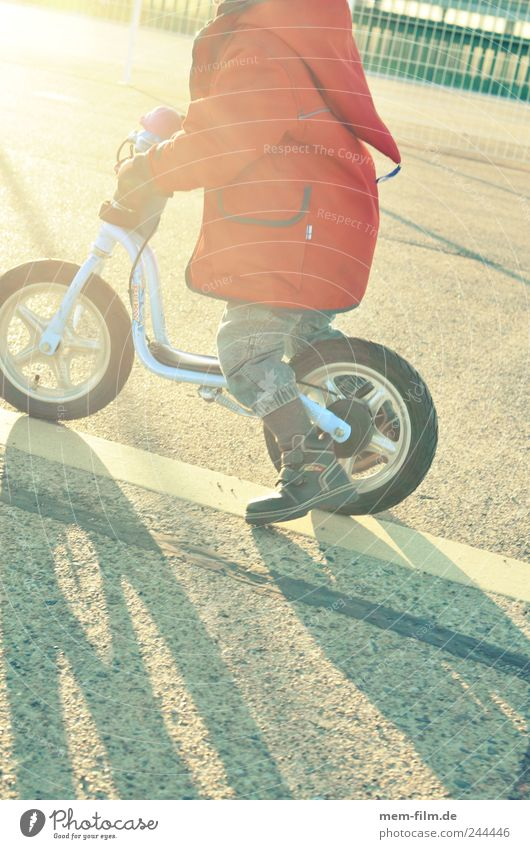 Child Red Playing Movement Speed Driving Bicycle Practice Dwarf Bump Human being Kiddy bike