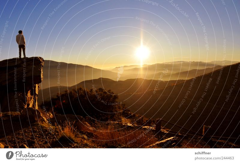 500 - Insights - Outlooks Landscape Sky Cloudless sky Sun Sunrise Sunset Beautiful weather Mountain Relaxation Looking Exceptional Fantastic Emotions Moody