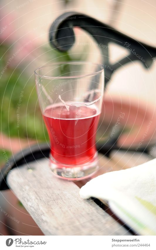 Red Summer Vacation & Travel Relaxation Brown Healthy Glass Food Contentment Beverage Drinking water Leisure and hobbies Bench To enjoy Juice