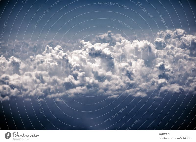 cottage cheese cloud aircraft Aviation Astronautics Elements Air Drops of water Sky Sky only Clouds Storm clouds Thunder and lightning Airplane Passenger plane