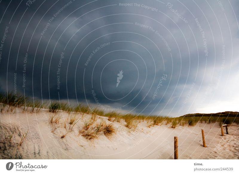 Sky Nature Clouds Dark Environment Grass Sand Coast Weather Energy Threat Beach dune Dune Whimsical Bizarre Bad weather