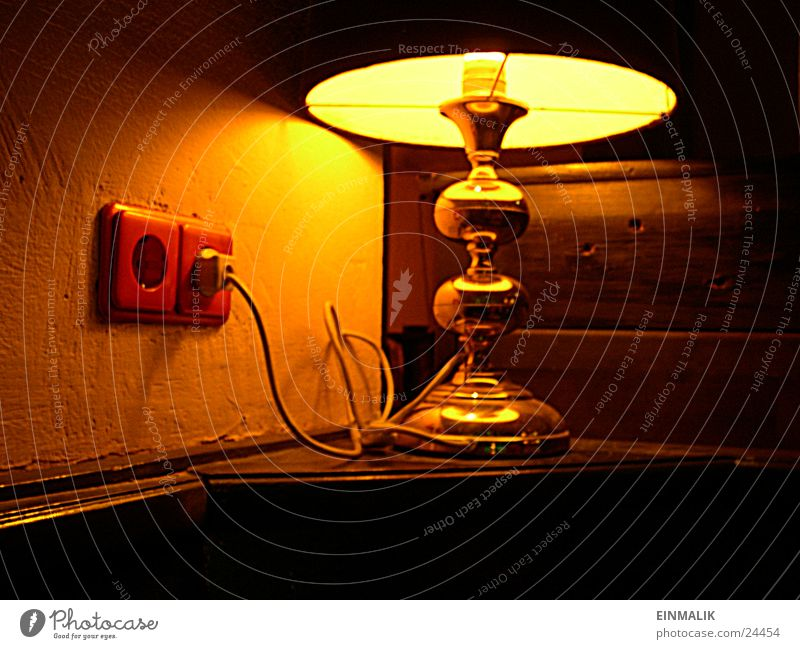Lamp Gold Cable Living or residing Socket Table lamp