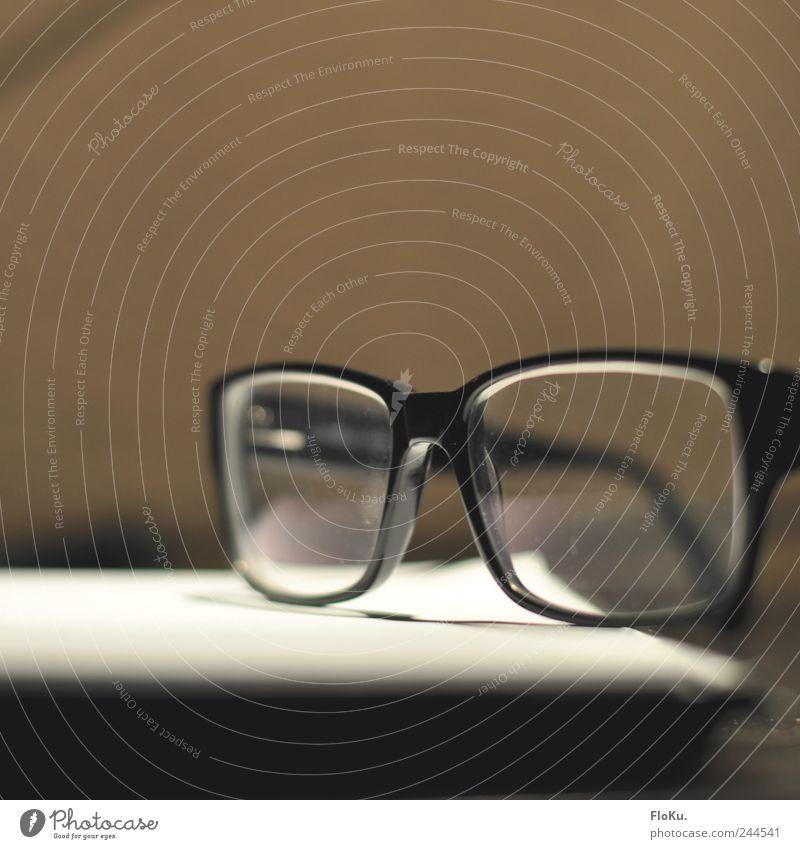 Black Brown Glass Lie Eyeglasses Retro Nerdy Close-up Spectacle frame