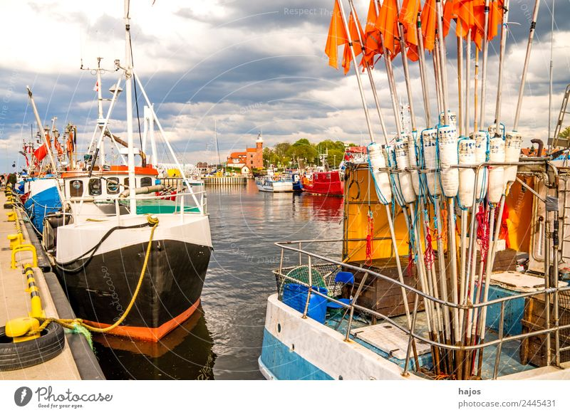 Port of Ustka, Poland Vacation & Travel Navigation Fishing boat Harbour Adventure Tourism Stolpmünde Fishing port fischkut marking buoys travel Idyll Lighthouse