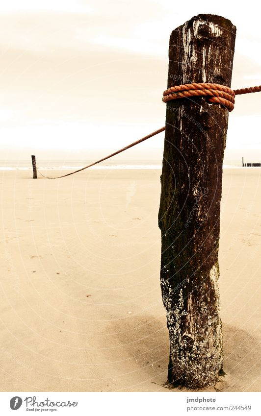 Nature Summer Beach Ocean Vacation & Travel Calm Clouds Cold Wood Sand Coast Power Rope Contentment Safety Tourism