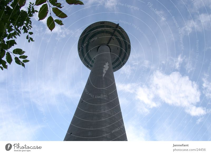 View upwards 1 Frankfurt Clouds Architecture Tall Looking Television tower