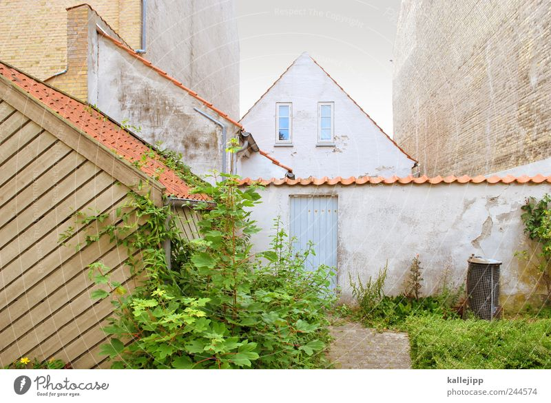Wall (building) Window Wall (barrier) Facade Car door Roof Living or residing Village Denmark Trash container Old town Roofing tile Eaves Gable
