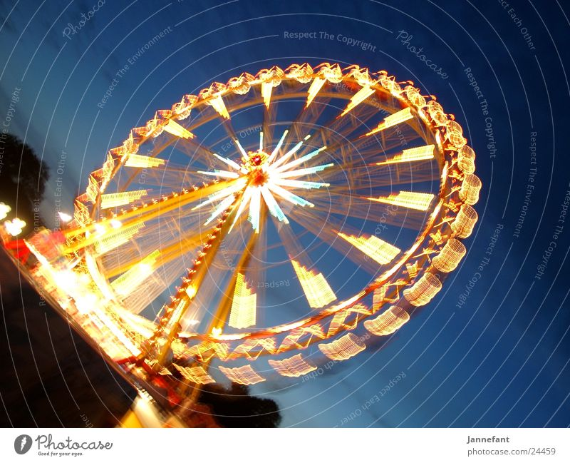 Ferris wheel again ... Long exposure Night Fairs & Carnivals TRavemünde Light Movement