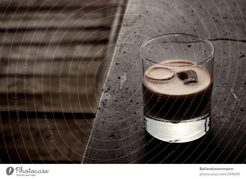 Black Cold Wood Style Stone Brown Contentment Glass Modern Esthetic Beverage Coffee Drinking Bar Luxury