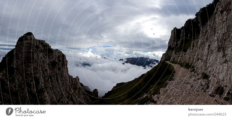 Nature Plant Summer Clouds Loneliness Mountain Stone Lanes & trails Sand Landscape Air Wind Hiking Rock Italy Alps