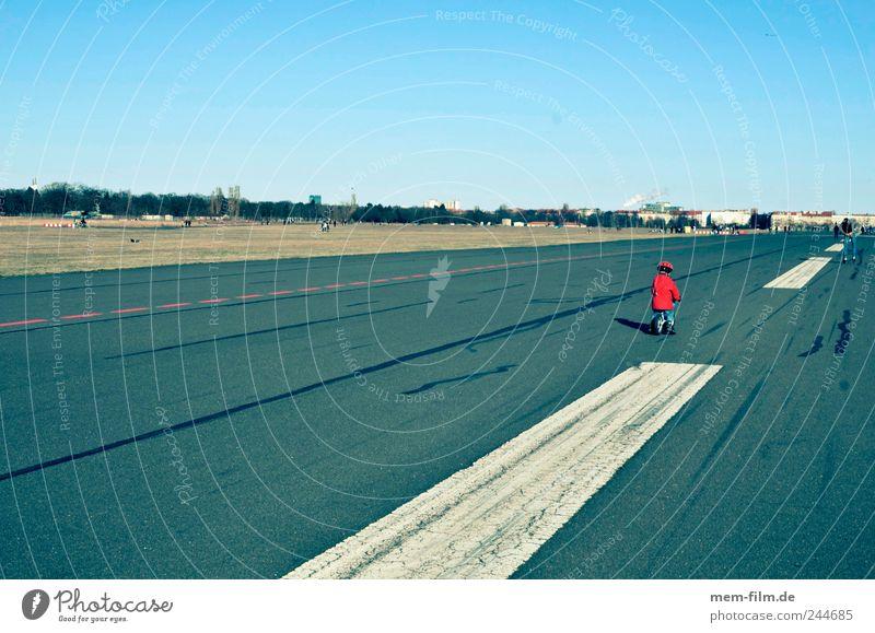 airfield Airport Runway Berlin red dwarf concrete desert Asphalt Sunday Stripe Median strip Traffic lane Tar Far-off places