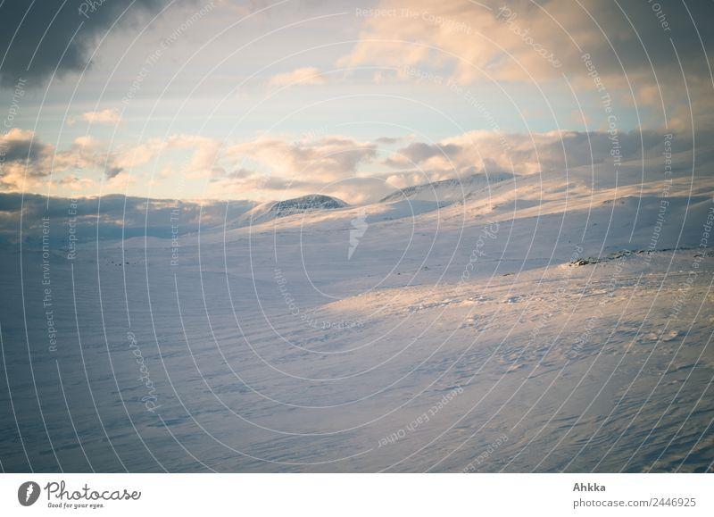 Winter landscape in Norway Harmonious Senses Calm Meditation Vacation & Travel Adventure Far-off places Winter vacation Landscape Clouds Sunrise Sunset Climate