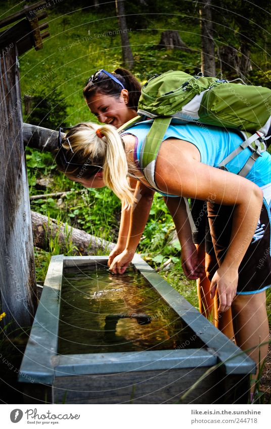 hiking is the girl's lust Harmonious Well-being Contentment Senses Relaxation Vacation & Travel Tourism Trip Freedom Summer Summer vacation Mountain Hiking