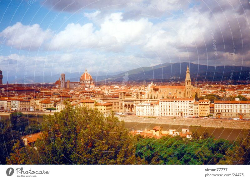 Sky City Clouds Europe Tuscany Italy Florence