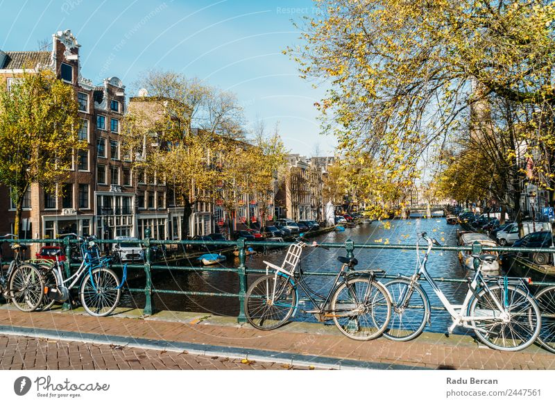 Beautiful Architecture Of Dutch Houses and Houseboats Sky Vacation & Travel Old Town Colour Landscape House (Residential Structure) Street Autumn Environment