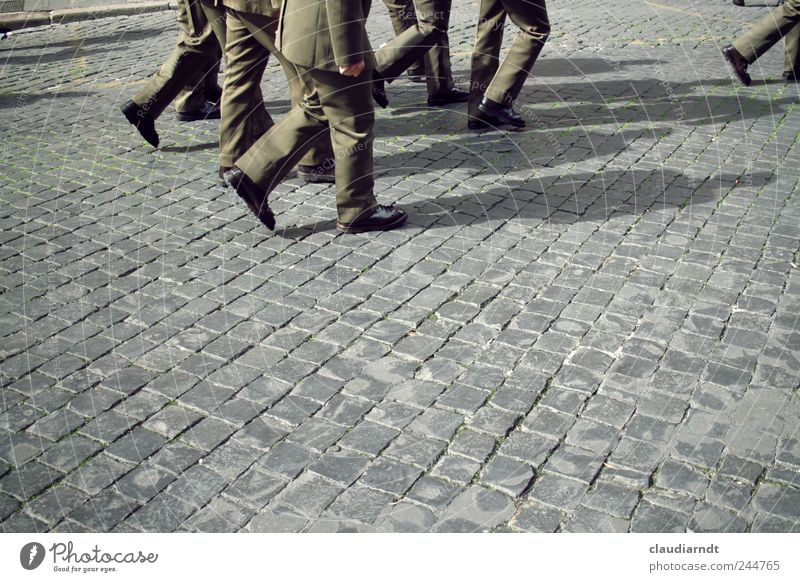 Human being Man Street Group Feet Legs Adults Going Masculine Safety Protection Italy Profession Police Officer Testing & Control Cobblestones