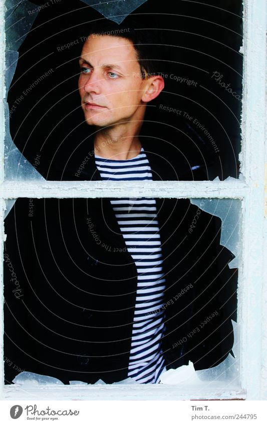 sailor uprising Human being Masculine Young man Youth (Young adults) 1 18 - 30 years Adults Dream Colour photo Exterior shot Day Portrait photograph