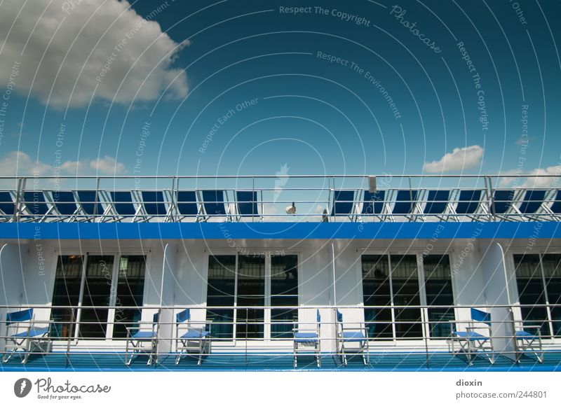 chill out area pt.3 Vacation & Travel Tourism Trip Cruise Summer Summer vacation Sunbathing Sky Clouds Beautiful weather Navigation Cruise liner Watercraft