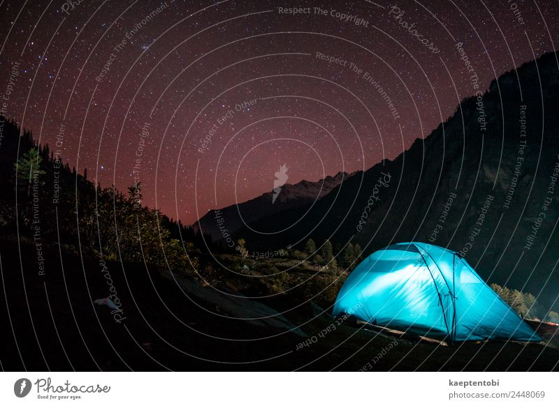 Mountain Camping Under Stars Sky Nature Vacation & Travel Blue Landscape Red Tourism Freedom Rock Trip Leisure and hobbies Hiking Adventure Cycling tour
