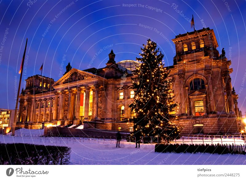 Human being Christmas & Advent Winter Architecture Snow Berlin Candle Tourist Attraction Christmas tree Politics and state Downtown Berlin Parliament Government