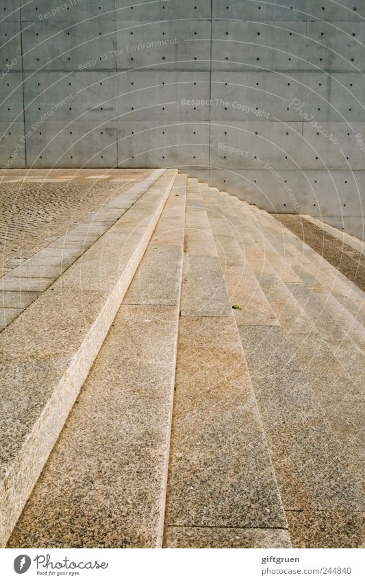Wall (building) Architecture Wall (barrier) Stone Building Line Arrangement Concrete Stairs Modern Perspective Manmade structures Downtown Material Landing