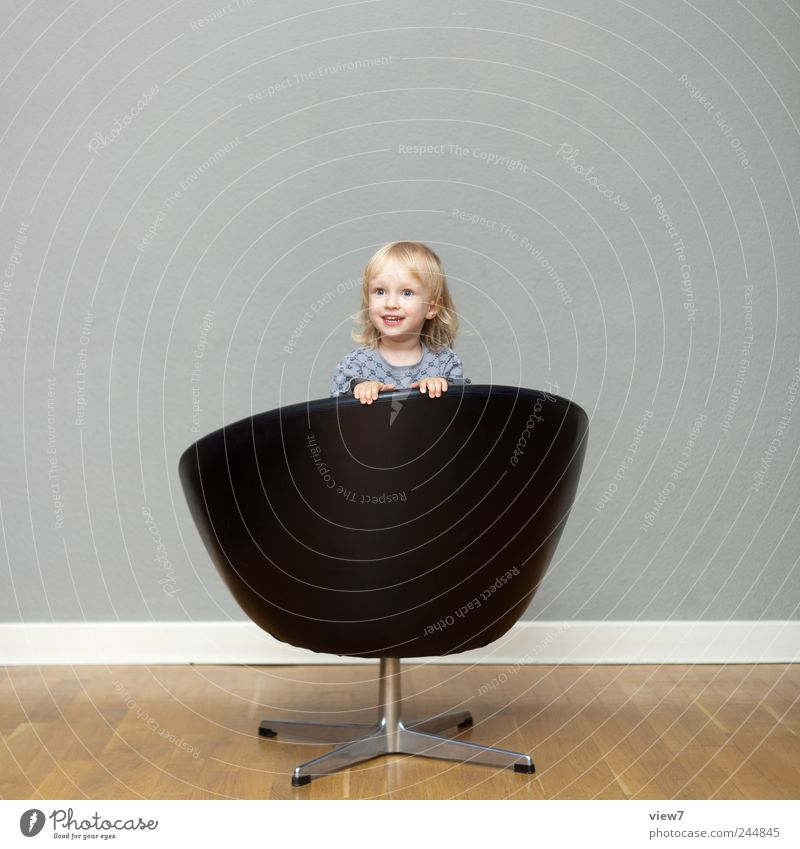 Be Happy Interior design Furniture Armchair Child Toddler Girl Infancy 1 Human being 1 - 3 years Leather Utilize Rotate Smiling Laughter Make Playing Dream