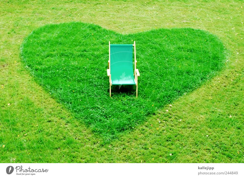 favourite place Armchair Chair Nature Plant Garden Park Meadow Sign Heart Love Sunbathing Deckchair Favorite place Break Environmental protection Landscaping