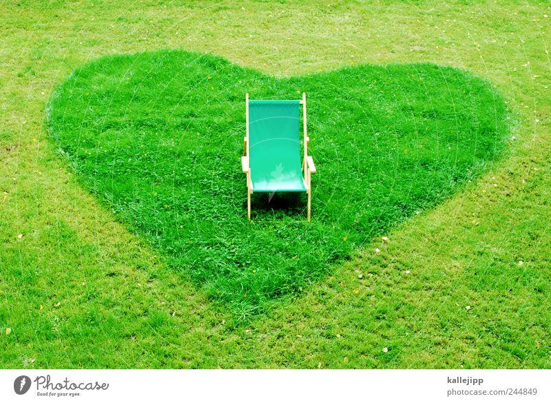 Nature Plant Love Meadow Garden Park Heart Break Chair Sign Sunbathing Armchair Environmental protection Deckchair Mow the lawn Favorite place