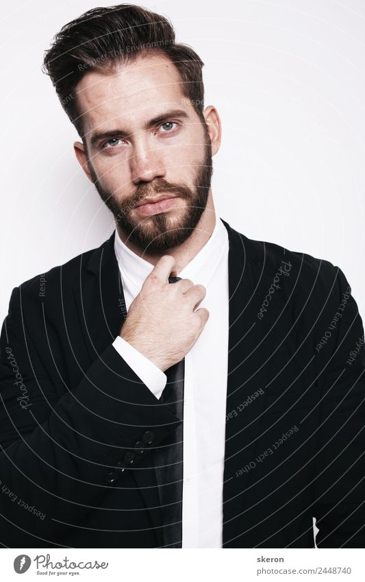 stylish guy with beard in business office suit Elegant Style Beautiful Personal hygiene Hair and hairstyles Birthday Student Teacher Office work Workplace