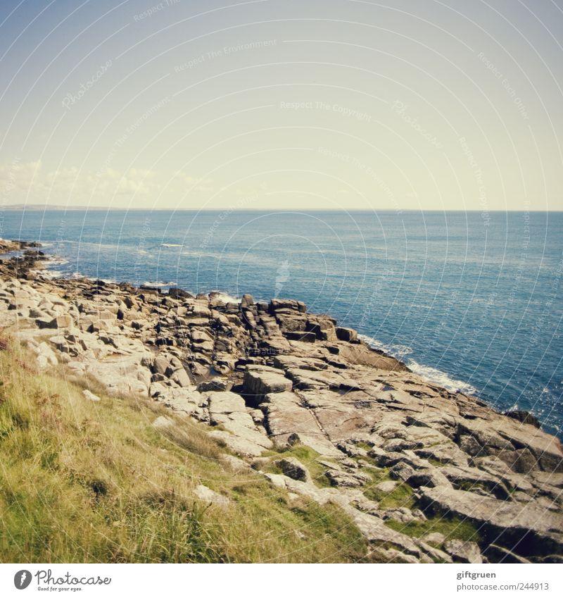 Nature Sky Water Green Blue Plant Summer Ocean Meadow Stone Air Coast Waves Environment Horizon Rock