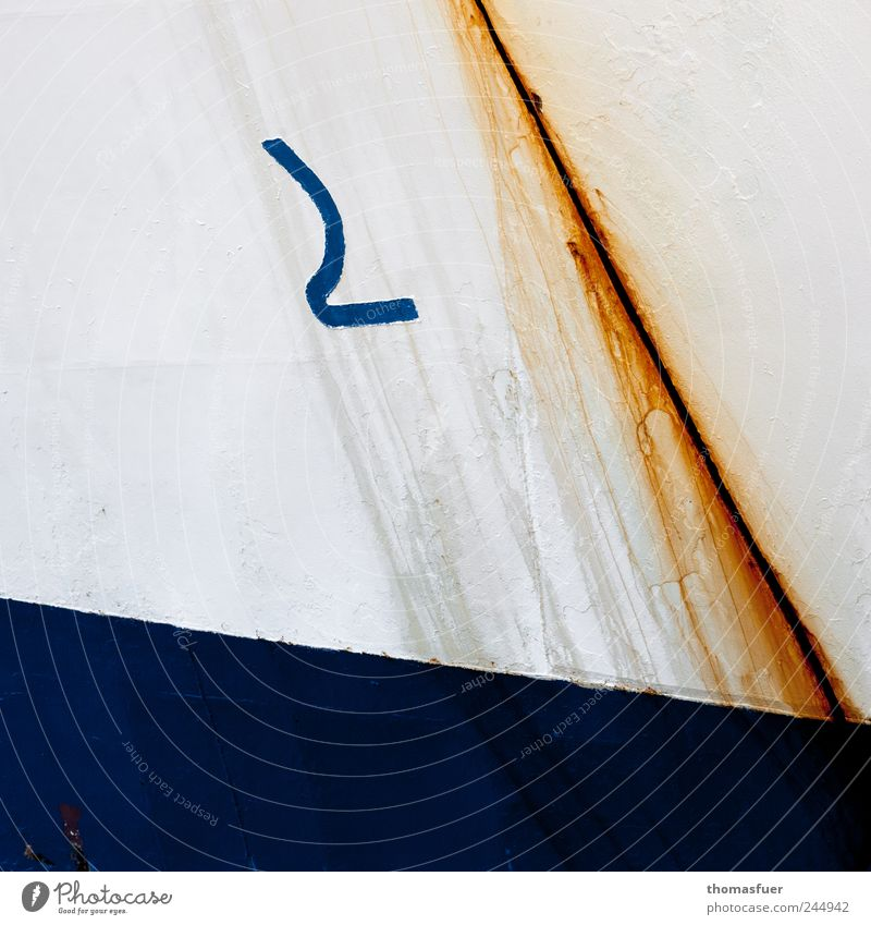 still holds Watercraft Ship's side Metal Blue White Sign Symbols and metaphors Colloquial speech Welding seam Tin Deferred Consecutively Warning label Password