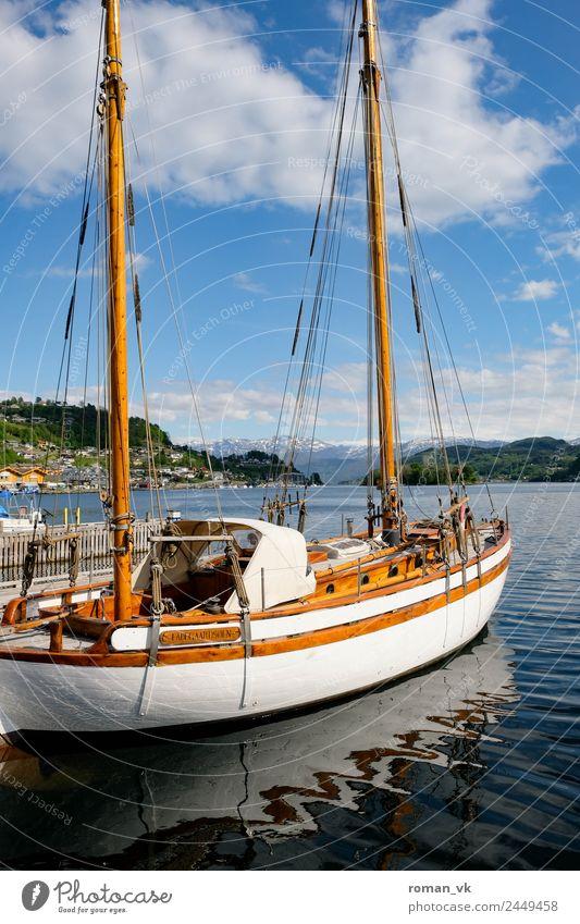 Travel photography Lifestyle Wood Lake Retro Elegant Idyll Harbour Luxury Cozy Pride Ancient Experience Mast Fjord Yacht