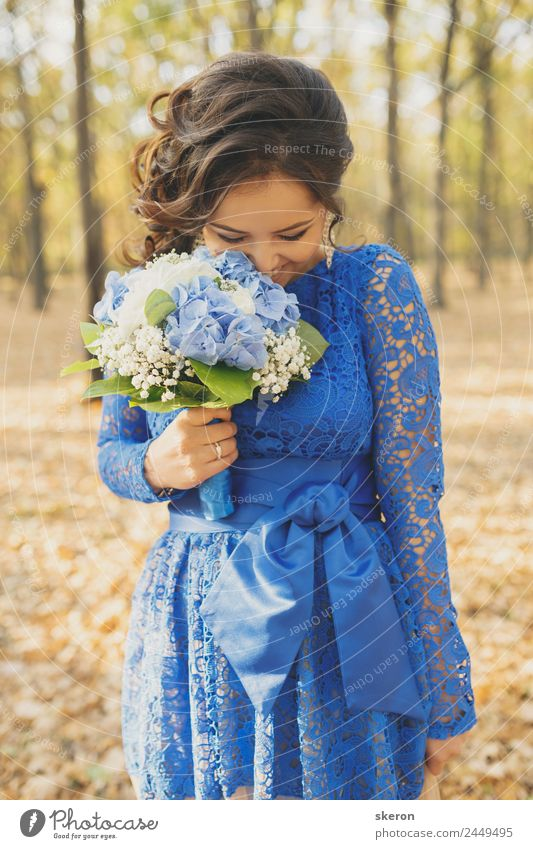 shy girl hides her eyes with a bouquet of flowers Human being Nature Youth (Young adults) Young woman Beautiful 18 - 30 years Adults Environment Feminine Happy