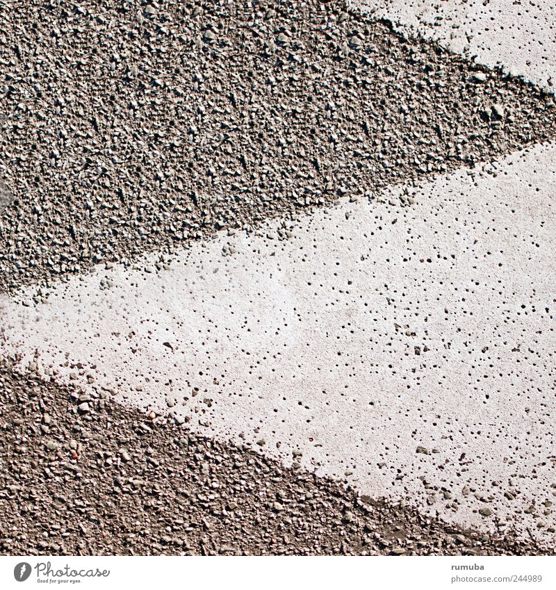 tokens Sign Signs and labeling Asphalt Triangle Arrow Gray White Exterior shot Close-up Detail Pattern Deserted Prongs Background picture Copy Space Geometry