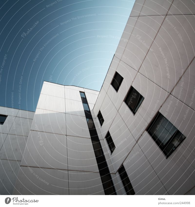 Sky White Blue House (Residential Structure) Architecture Facade Tall Tower block Pol-filter Apartment Building