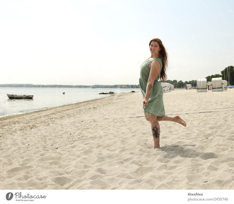 woman on the beach Lifestyle Beautiful Wellness Well-being Vacation & Travel Trip Young woman Youth (Young adults) Adults 18 - 30 years Nature Landscape Summer